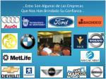 estas son algunas de las empresas que nos han brindado su confianza