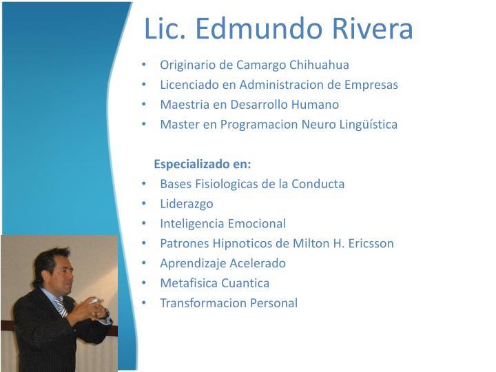 Lic. Edmundo Rivera