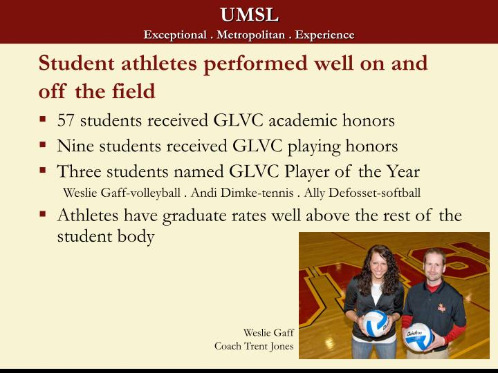 Student athletes performed well on and off the field