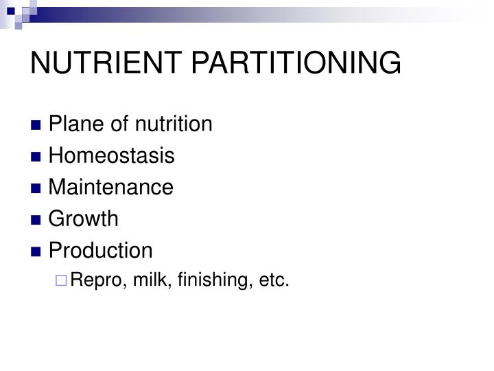 NUTRIENT PARTITIONING