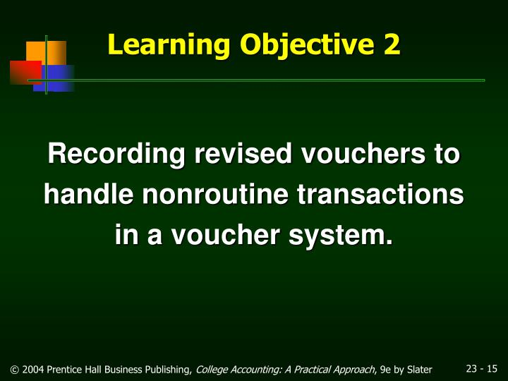 Recording revised vouchers to