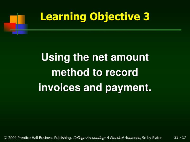 Using the net amount