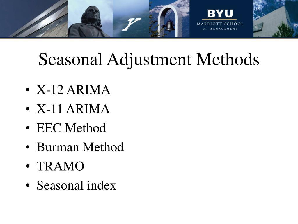 Seasonal Adjustment Methods