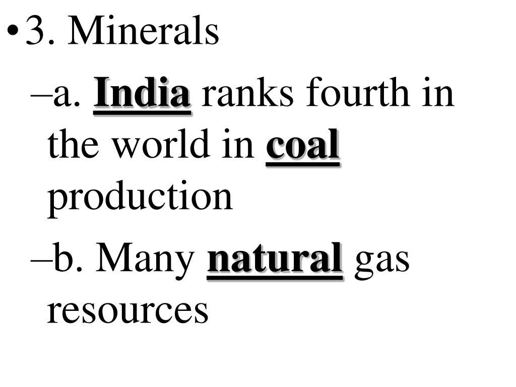 3. Minerals