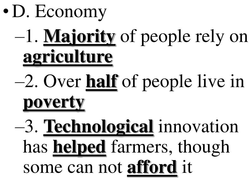 D. Economy