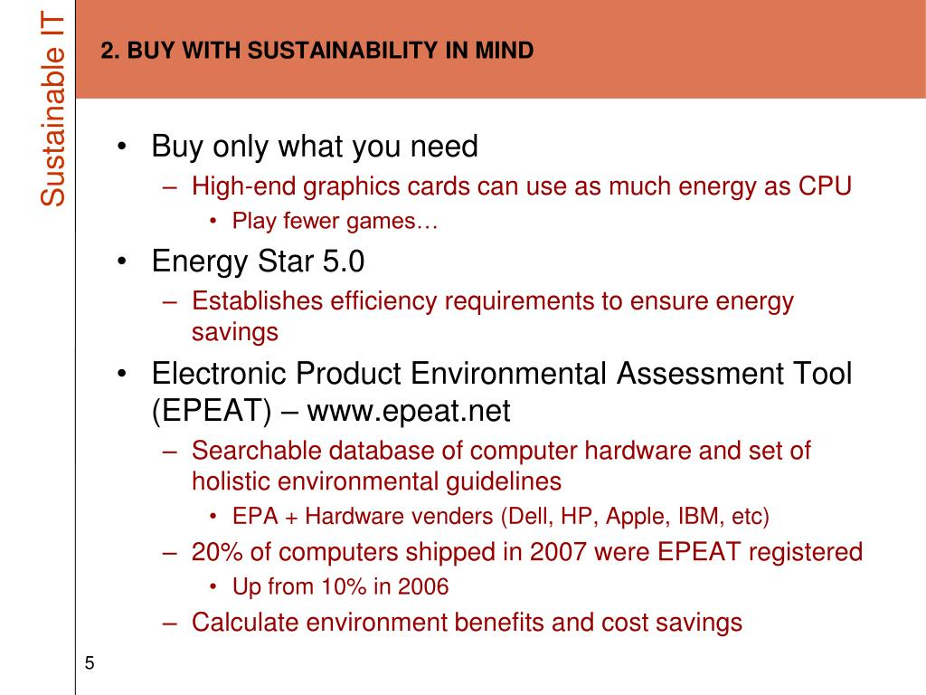 2. BUY WITH SUSTAINABILITY IN MIND