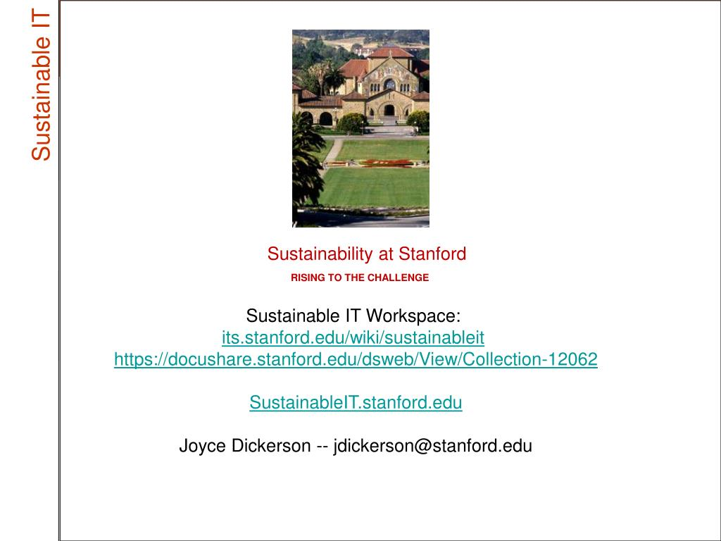 Sustainability at Stanford
