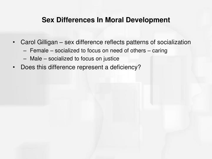 Sex Differences In Moral Development