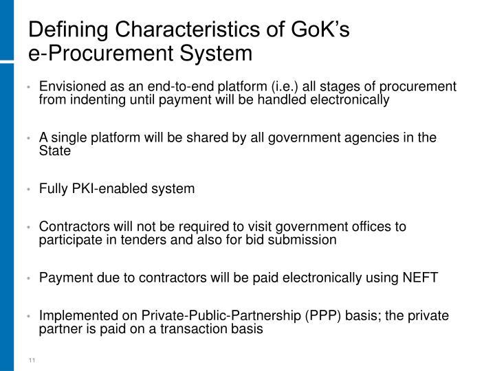 Defining Characteristics of GoK's