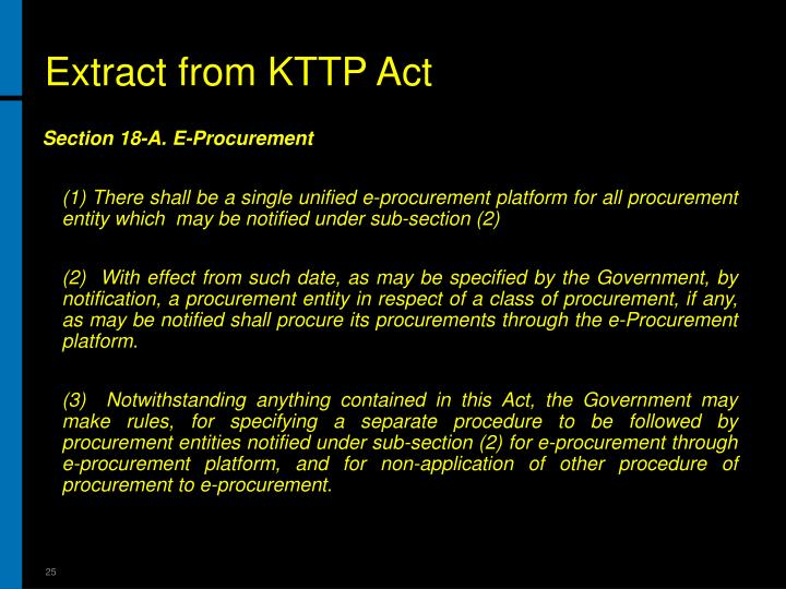 Extract from KTTP Act