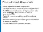 perceived impact government