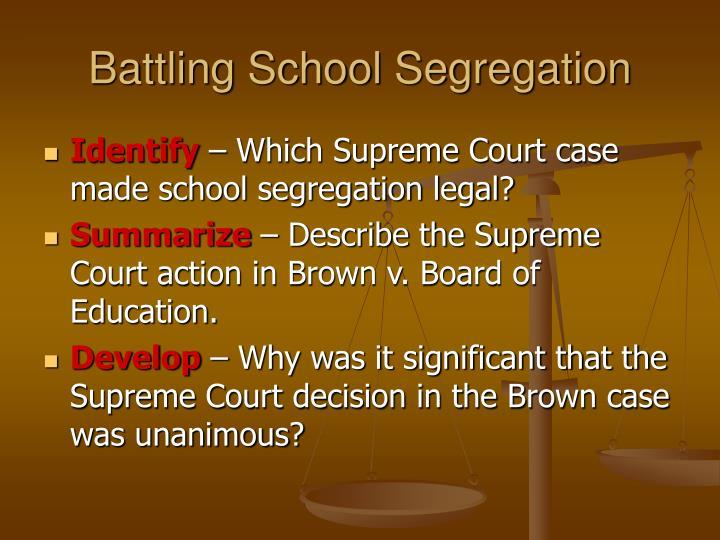 Battling School Segregation