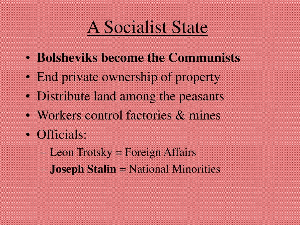 A Socialist State