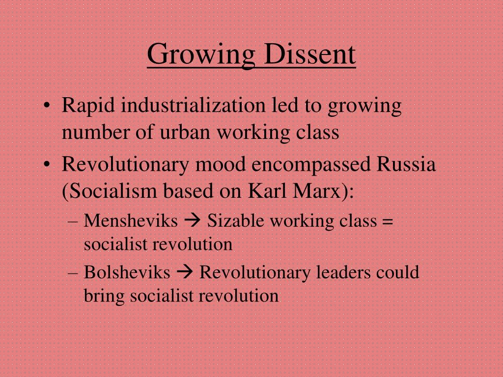 Growing Dissent