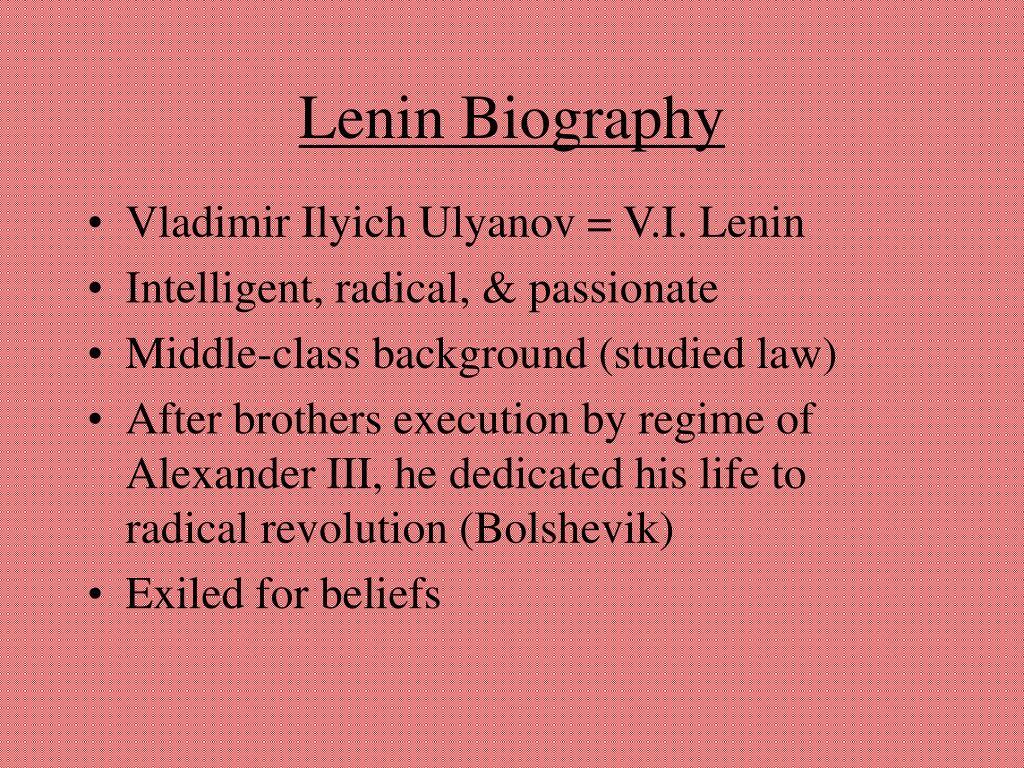 Lenin Biography