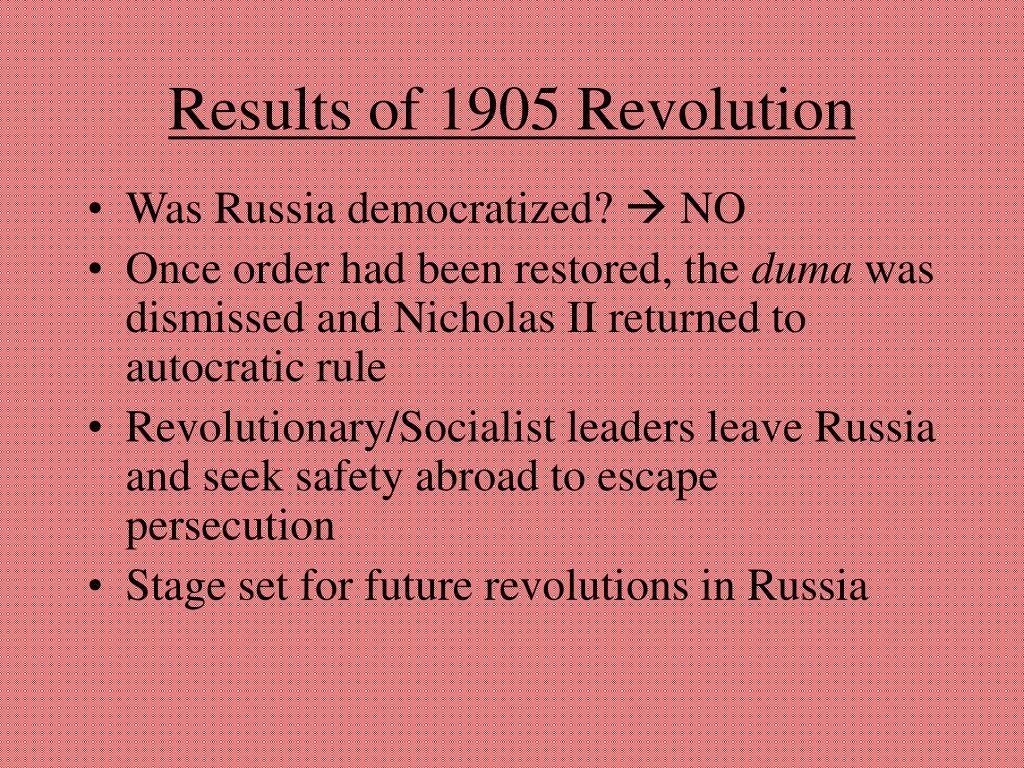 Results of 1905 Revolution