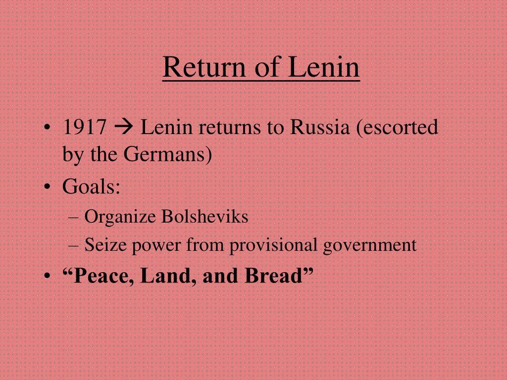 Return of Lenin