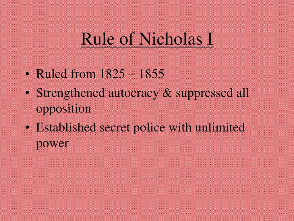Rule of Nicholas I