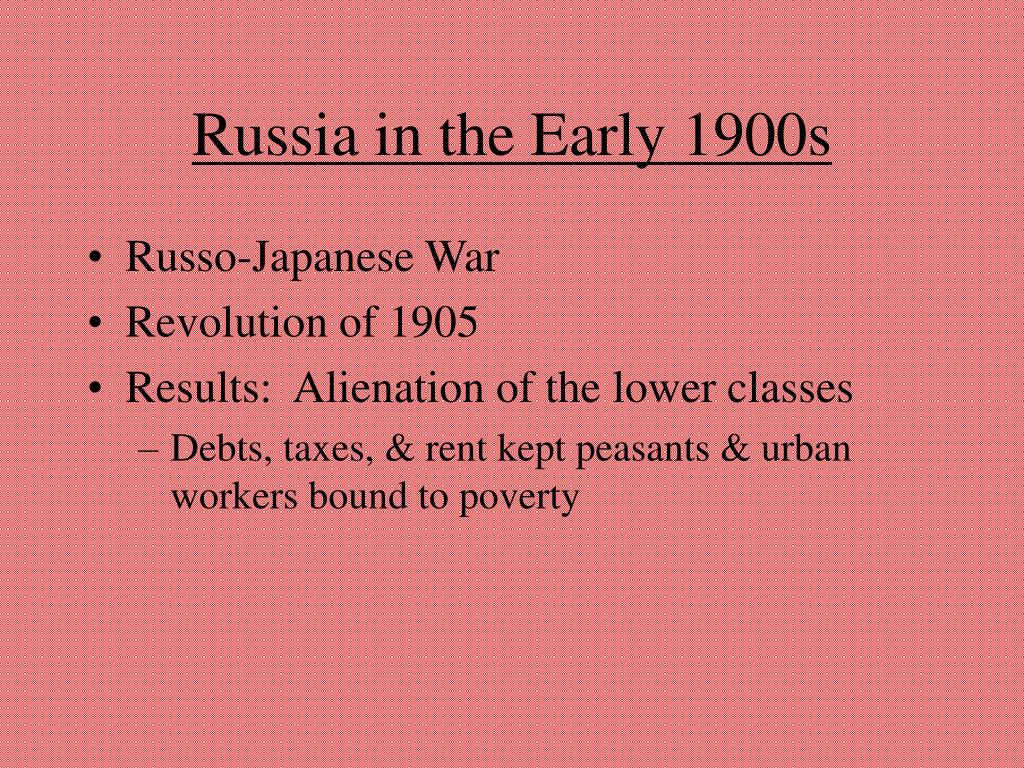 Russia in the Early 1900s