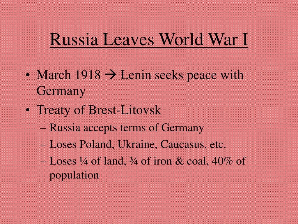 Russia Leaves World War I