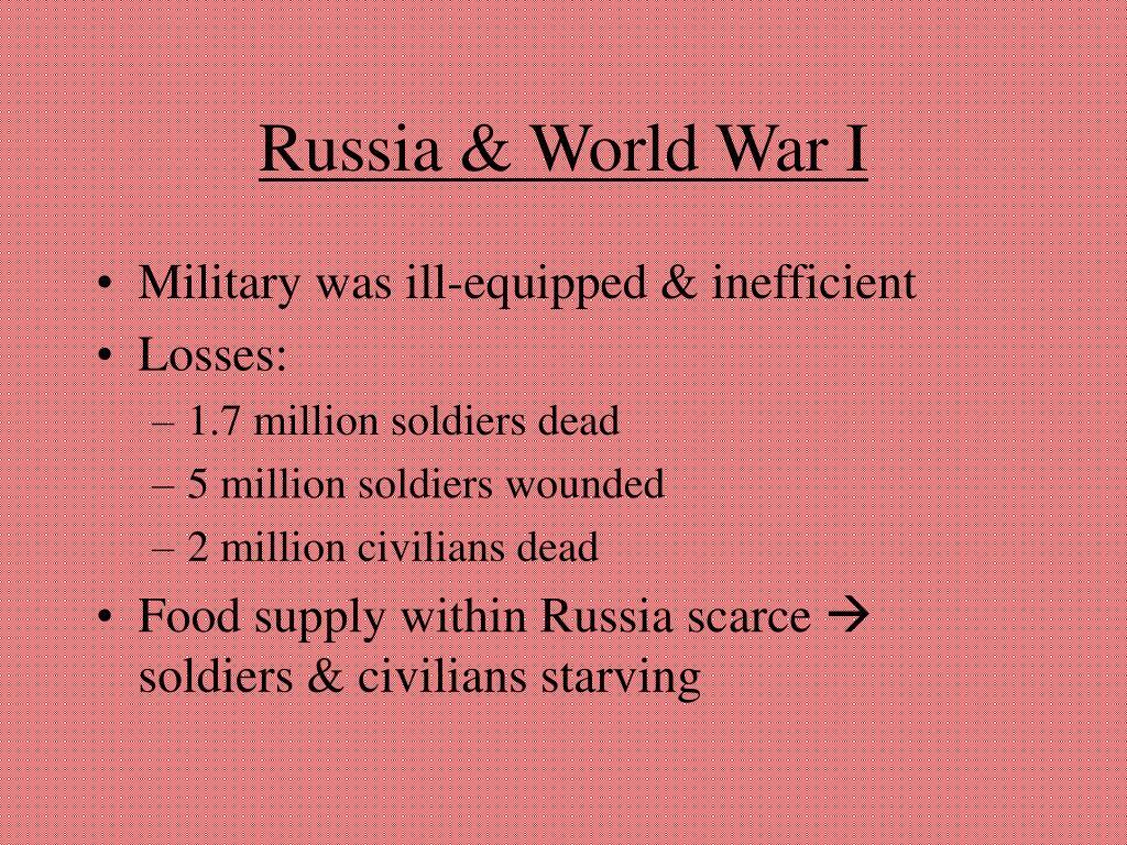 Russia & World War I