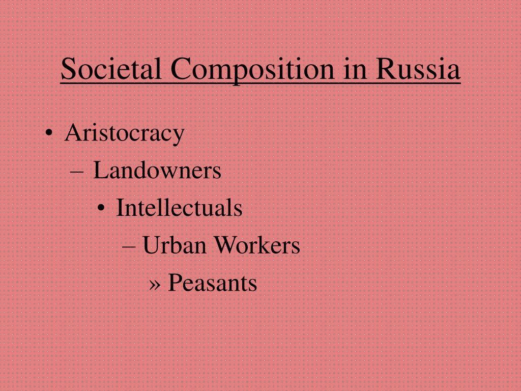 Societal Composition in Russia