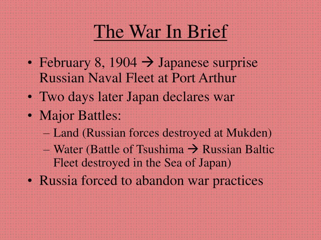 The War In Brief