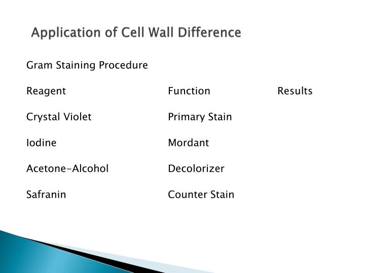 Application of Cell Wall Difference