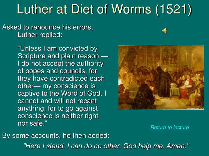 Luther at Diet of Worms (1521)