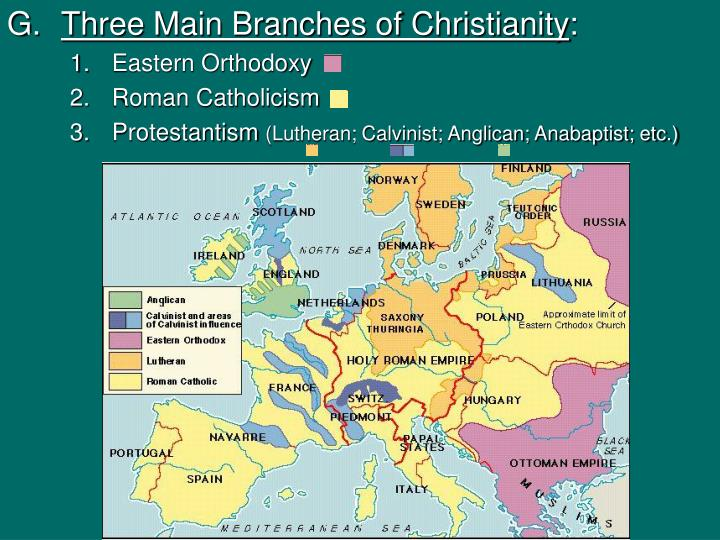 Three Main Branches of Christianity