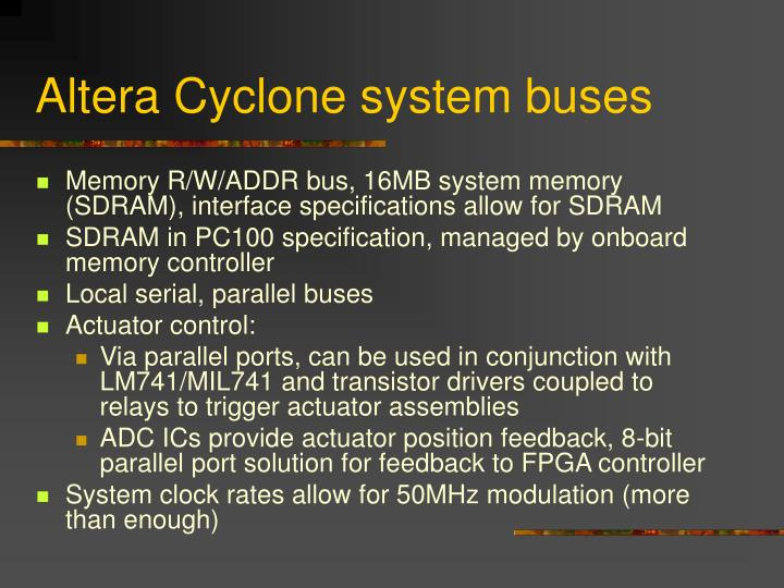 Altera Cyclone system buses