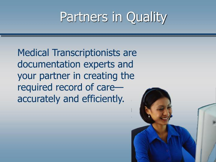 Partners in Quality