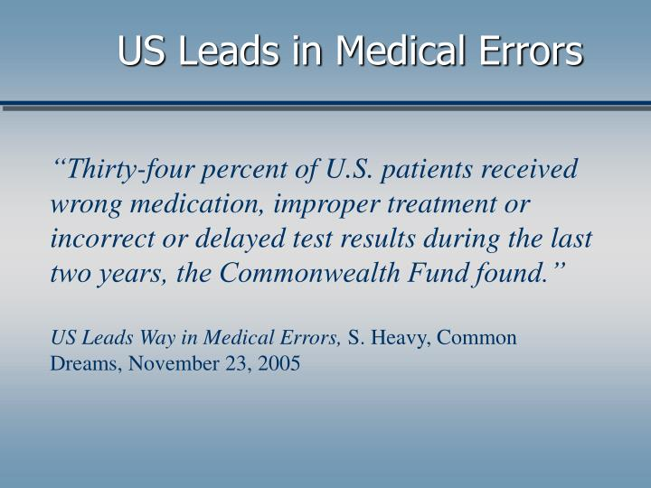 US Leads in Medical Errors