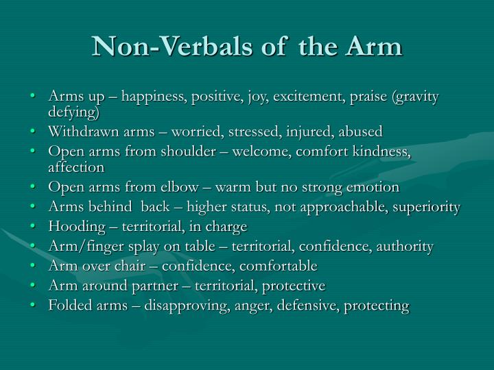 Non-Verbals of the Arm