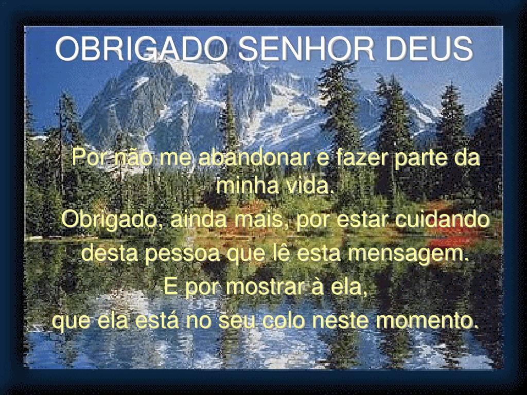 OBRIGADO SENHOR DEUS