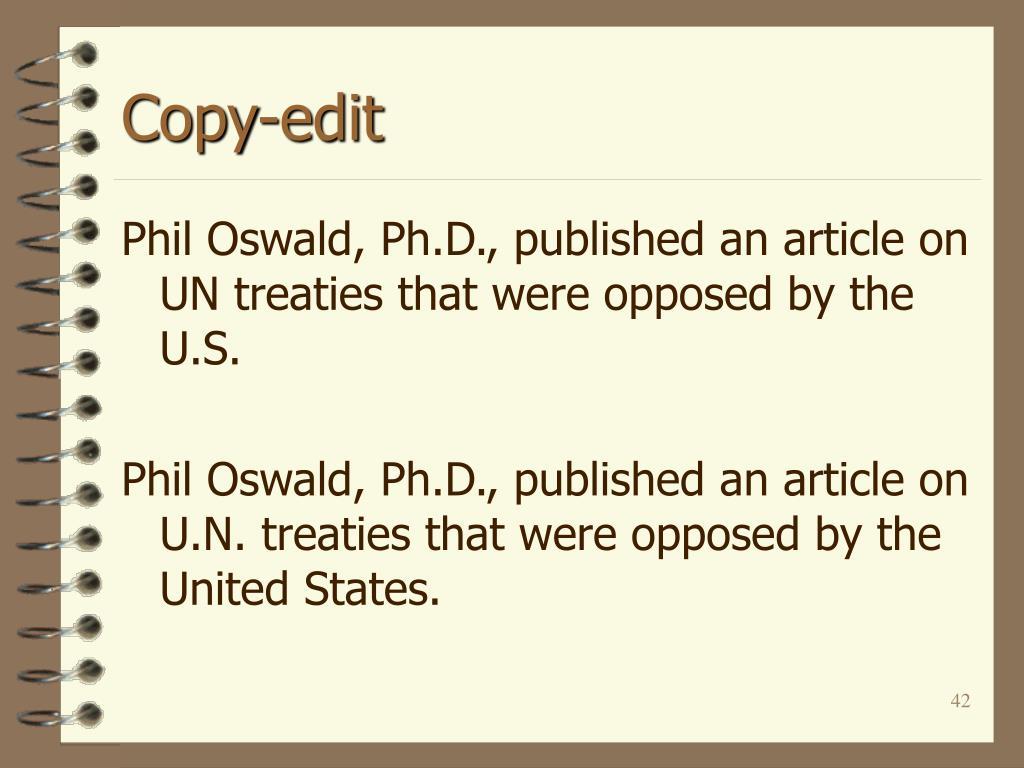 Copy-edit