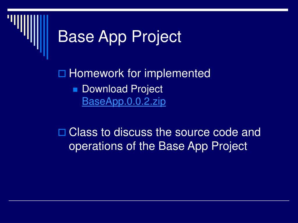 Base App Project