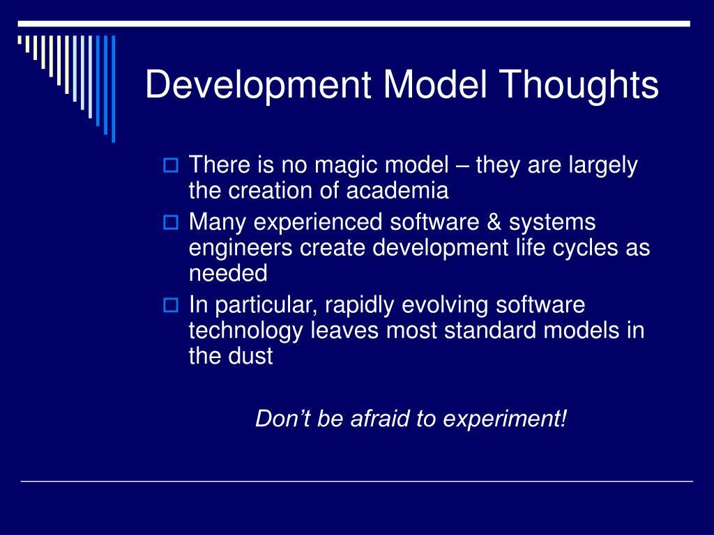 Development Model Thoughts