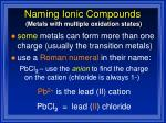 naming ionic compounds1