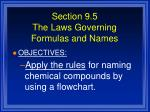 section 9 5 the laws governing formulas and names1