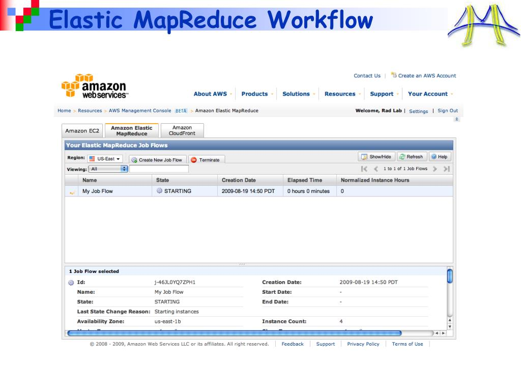 Elastic MapReduce Workflow