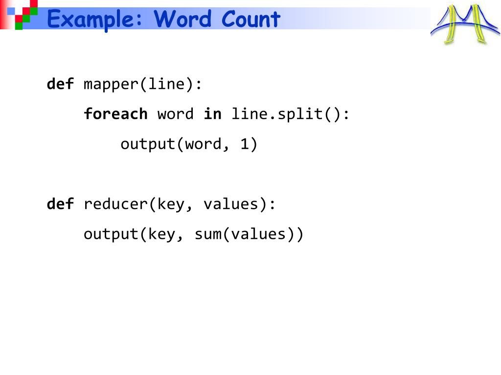 Example: Word Count