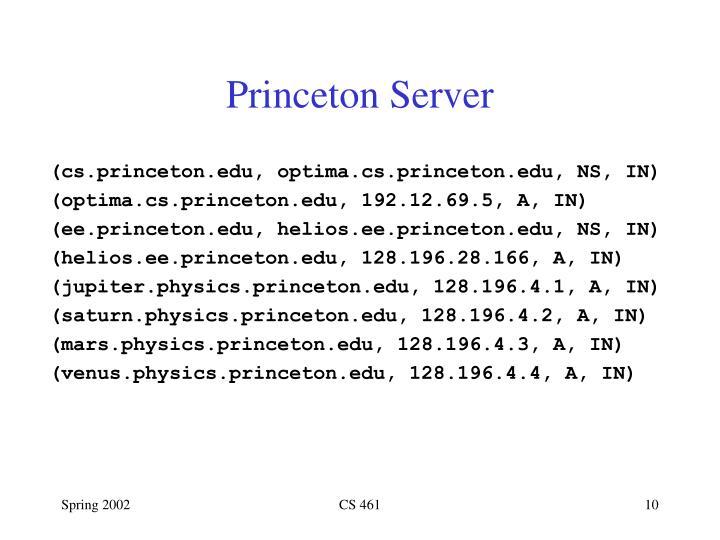 Princeton Server
