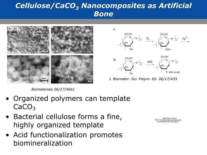 Cellulose/CaCO