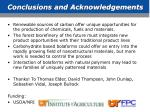 conclusions and acknowledgements