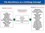 the biorefinery as a unifying concept