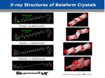 x ray structures of bolaform crystals