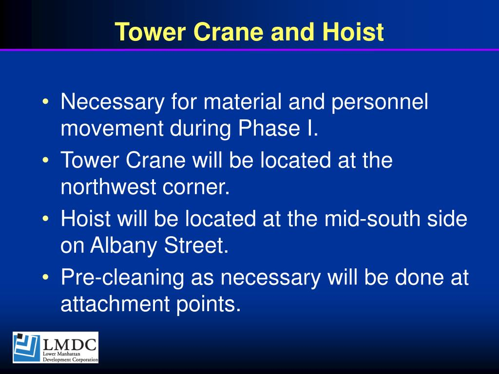 Tower Crane and Hoist