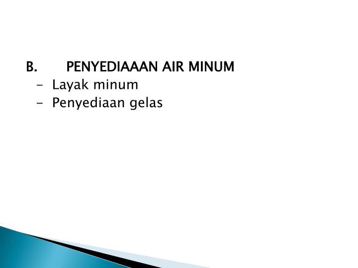 B.PENYEDIAAAN AIR MINUM