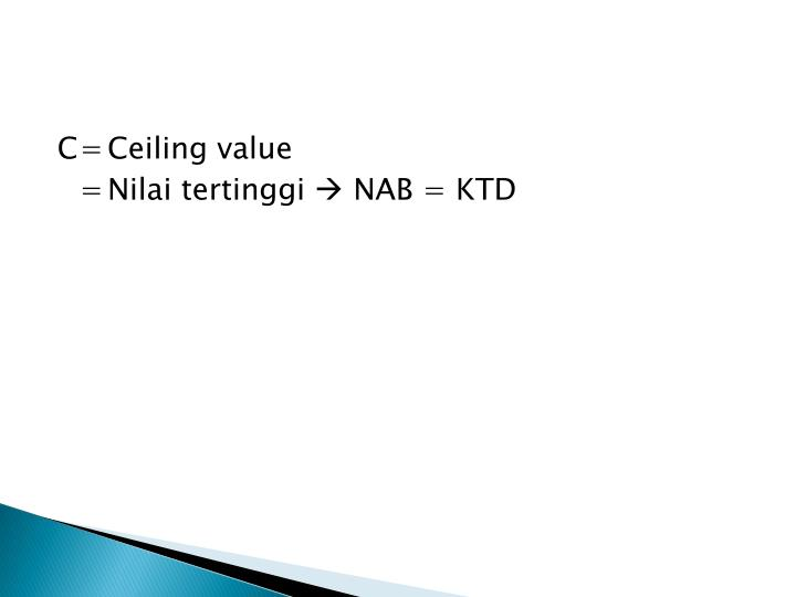 C=Ceiling value